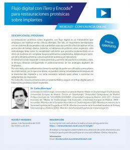 Flujo digital con iTero y Encode® para restauraciones protésicas sobre implantes