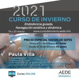 Por ser socio de SEPES, tienes un precio especial de inscripción para el Curso de Invierno 2021 de AEDE.